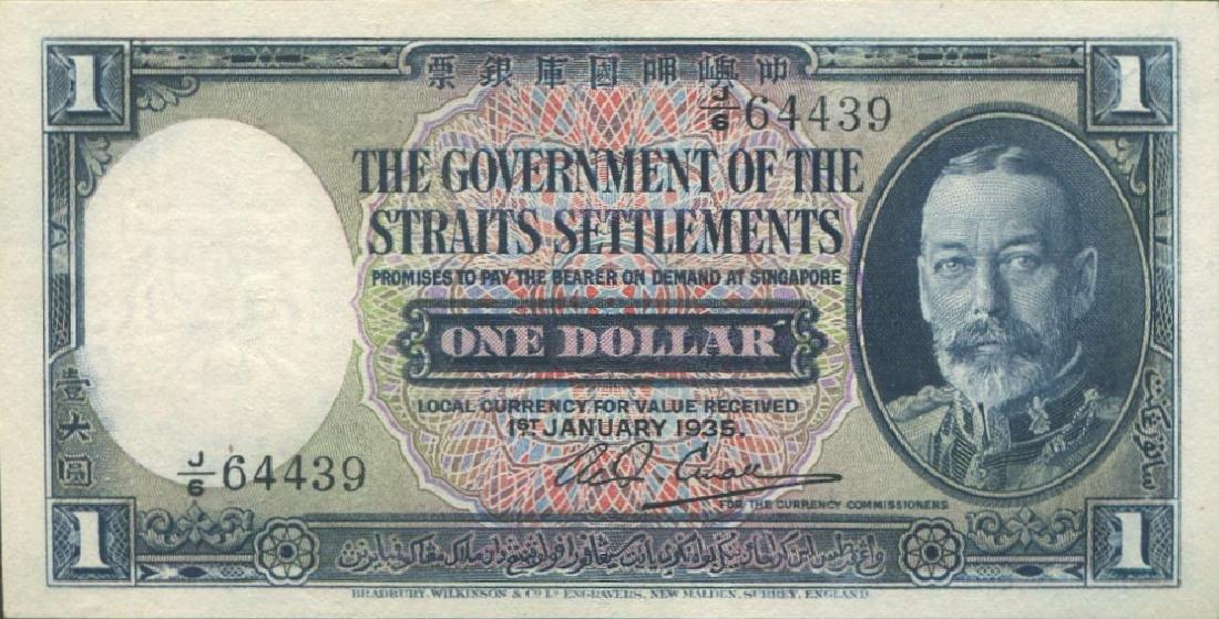 Straits Settlements, 1935, $1. AU