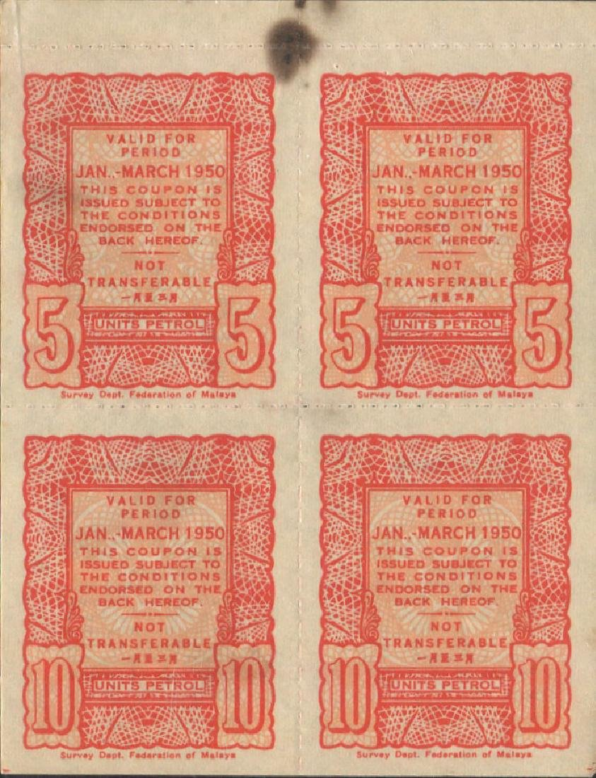 Malaya, Petrol Coupon