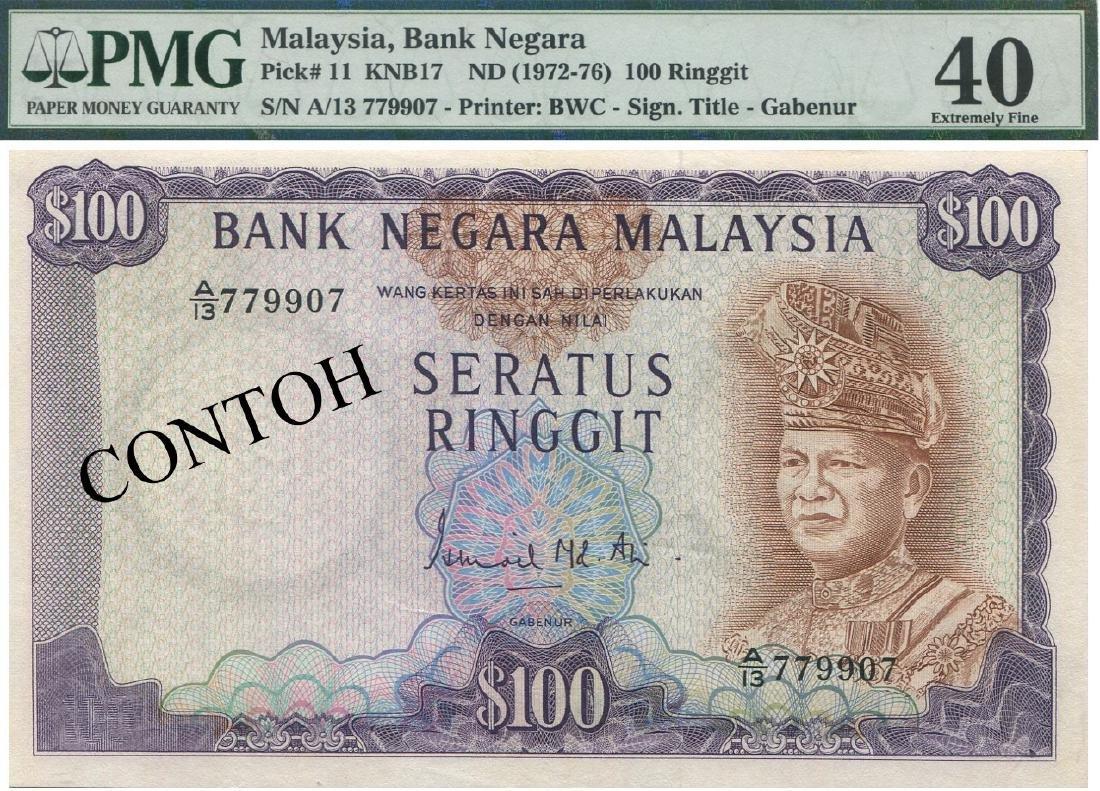 MY, 3rd series, RM 100. PMG EF 40