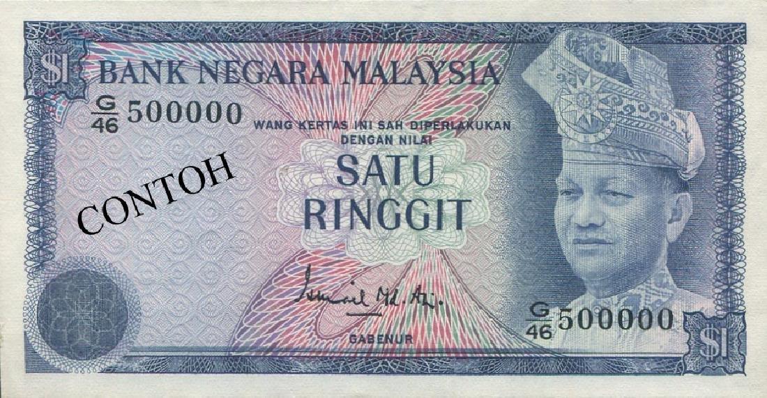 MY, 3rd series, RM 1, G/46 500000. AU