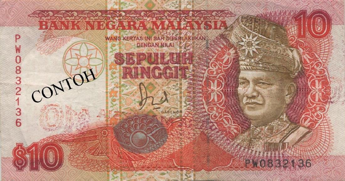 MY, 6th series, RM 10, printing error, GVF