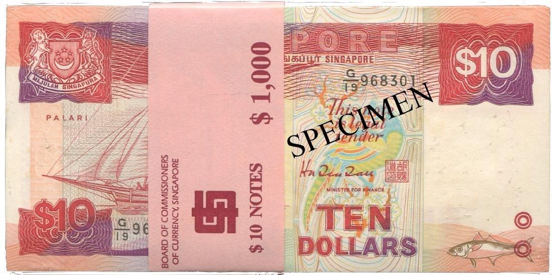 SG, Ship, $10, 100pcs. UNC