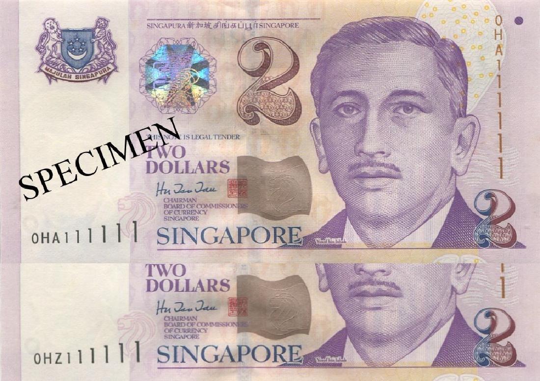 """SG, Presidential, $2, solid """"1"""", H.T.T. AU-UNC.24pcs"""