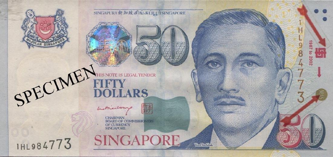 SG, Presidential, $50, logo. L.H.L. AU-UNC
