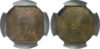 Malaya, 1940, Bronze ½ c. NGC MS 63 BN