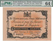 Straits Settlements, 1917, Emergency Issue, 25 Cents