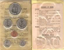 SG, 1974, 1c - $1, 6pcs official set in plastic wallet,