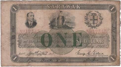 Sarawak, 1919, $1