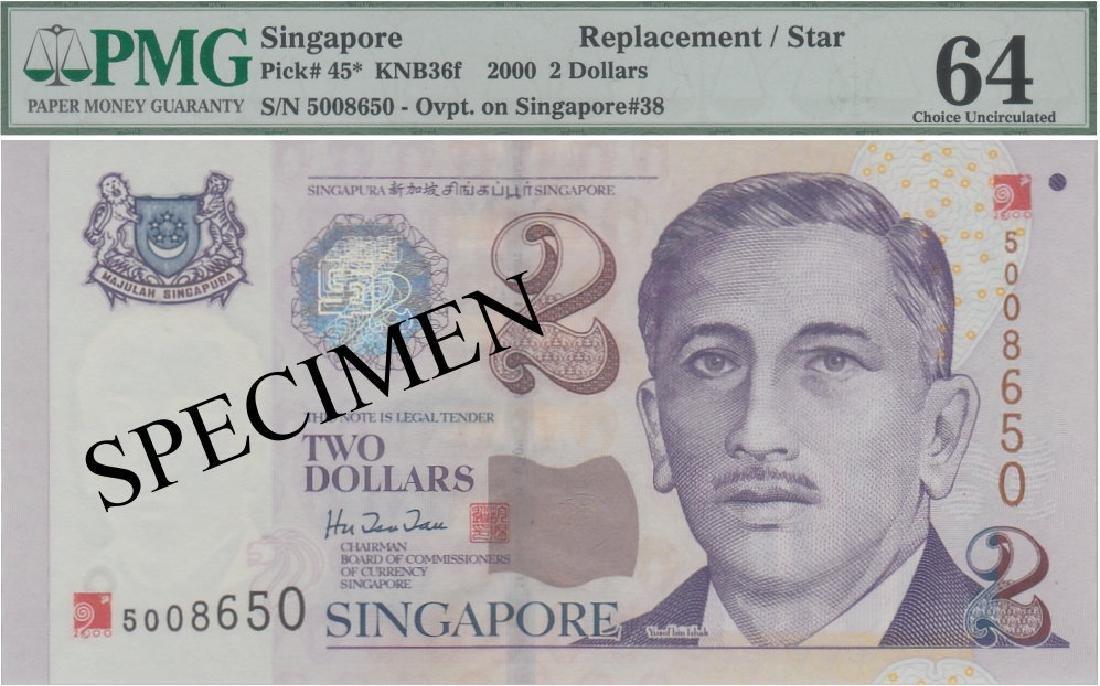 Singapore, 2000 Millenium, $2