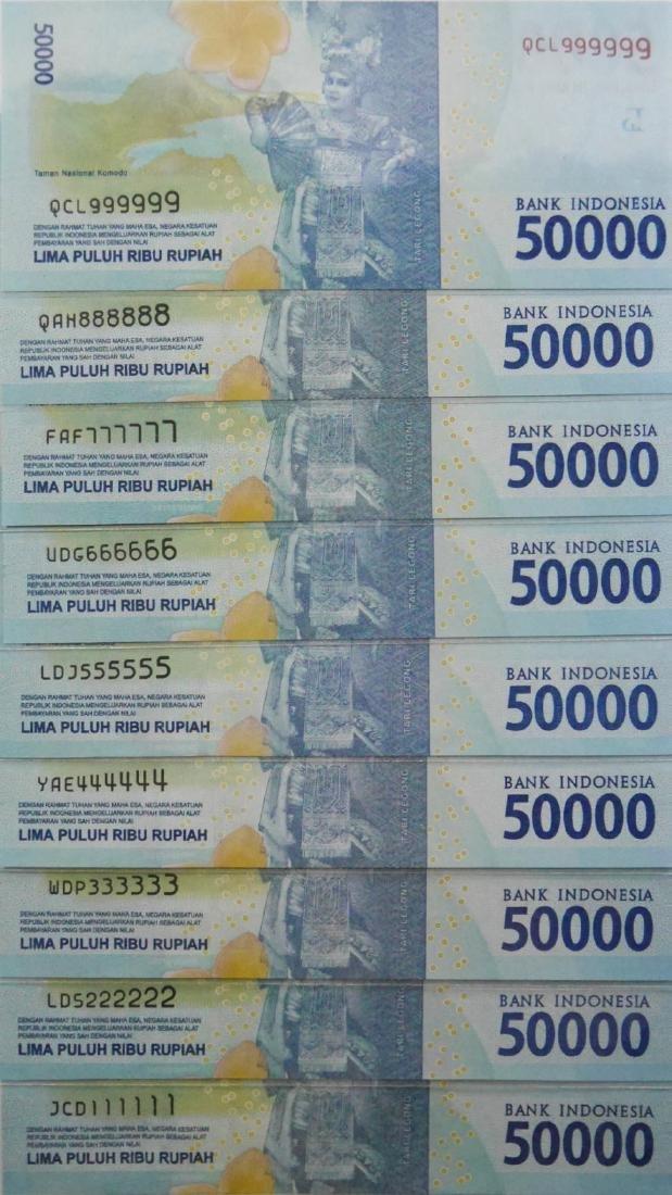 Indonesia, 2016, 50000 Rupiah, various prefix