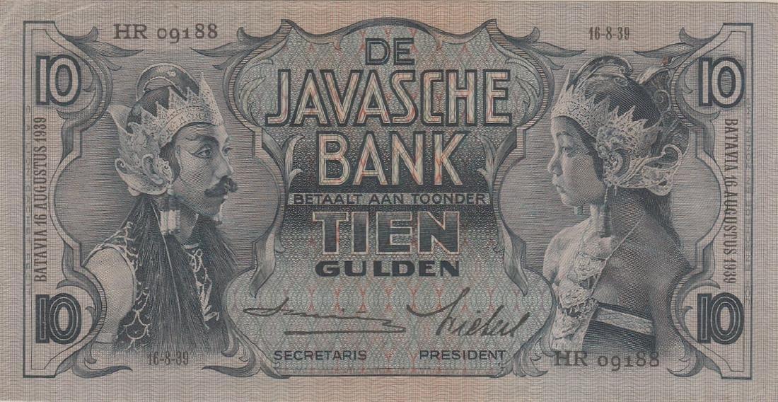 Netherlands Indies, 1939,  10 Gulden