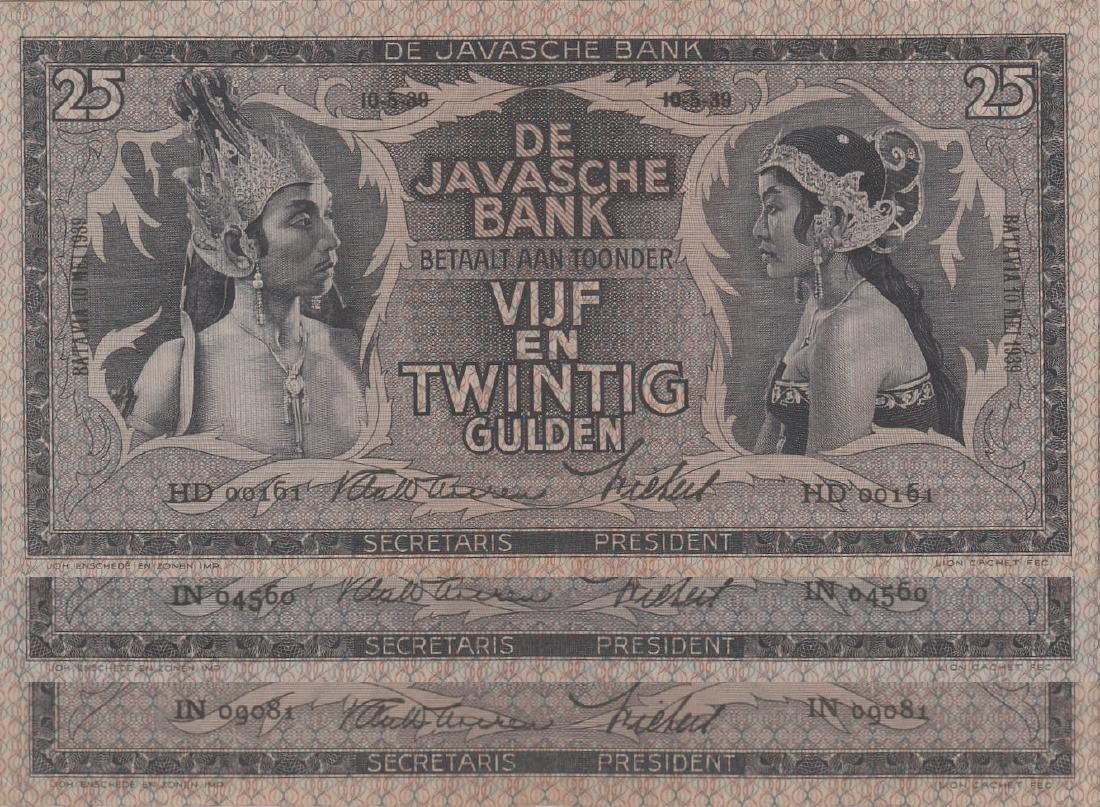 Netherland Indies, De Javasche Bank, 1939, 25 Gulden
