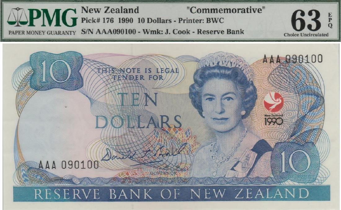 New Zealand, 1990, Commemorative, $10