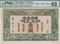 China, Empire Banknotes