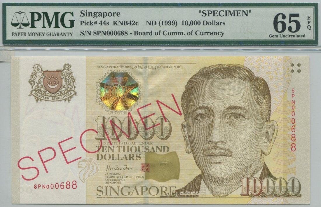 Presidential specimen note, 1999, SN 8PN 00688. PMG Gem