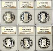 Singapore, Silver Proof $1: 1975 - 1980, 6Pcs All NGC