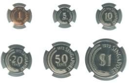 SG, 1972, 1c ~ $1, Proof 6pcs / set. Mintage749 sets