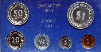 SG, 1973, 1c - $1, Proof 6pcs / set