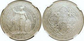 British Trade Dollars, 1904/0B, NGC AU-Details