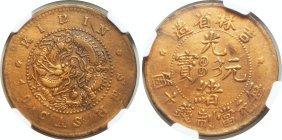 Kirin,Copper 10 cash, NGC VF Details