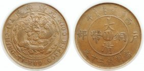 Szechuan, Copper 10 cash, ICG AU 58