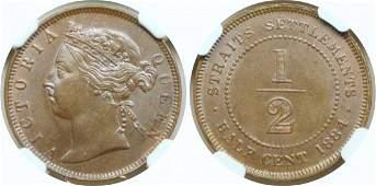 1884, Bronze c. NGC MS 63 BN