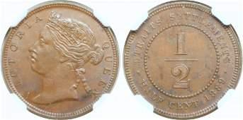 1889, Bronze c. NGC MS 61 BN