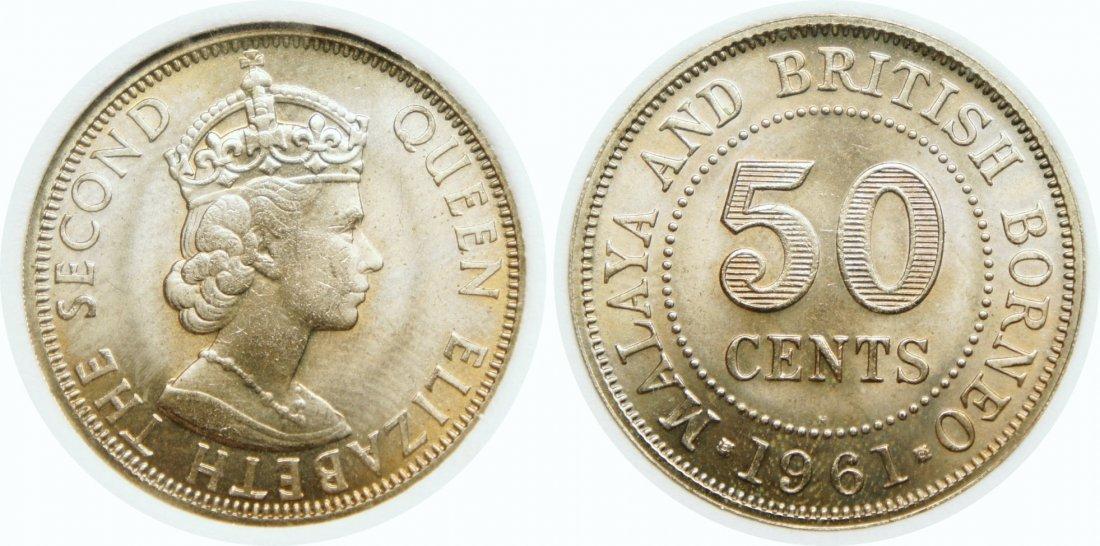 Malaya & British Borneo, 1961H, C-N 50c. NNC MS 67