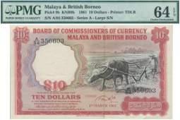Malaya  British Borneo 1961 10 Farmer and Buffalo