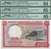 Malaya  British Borneo 1961 10 3pcs