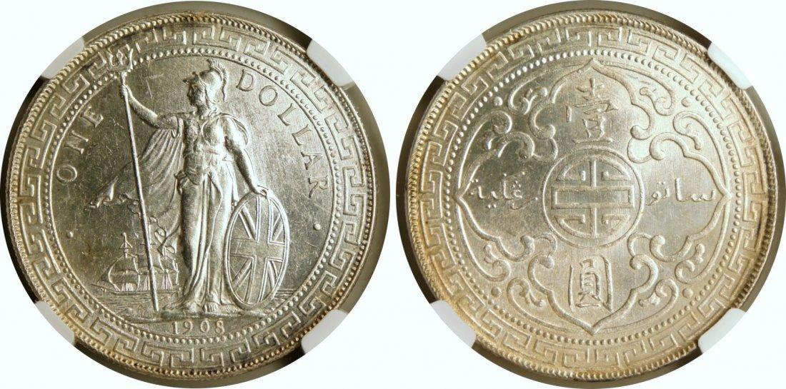 British Trade Dollar, 1908B