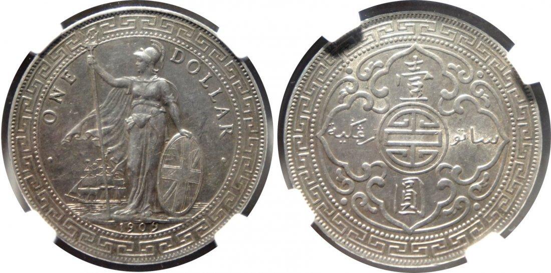 British Trade Dollar, 1909B