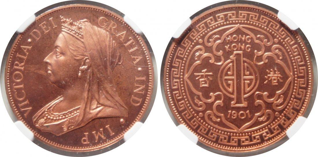 HK, 1901, $1, X-1B, Copper Fantasy 1990's Ina Issue.