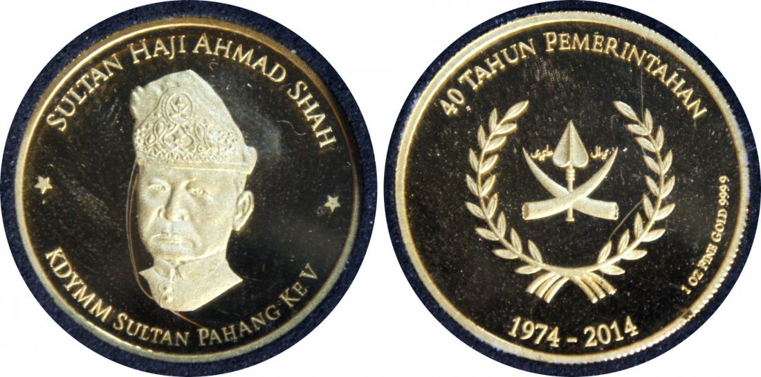 MY, 2014, Gold Proof Medal, 1oz, 31.33gm, fine gold