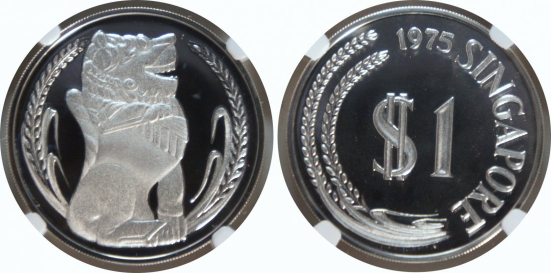 SG, 1975-84, First Silver Proof Dollar, 10pcs complete