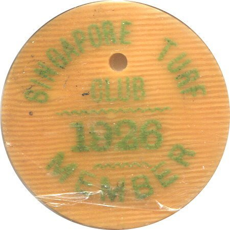 SG, 1926, Turf Club badge, the first issue of Ivory