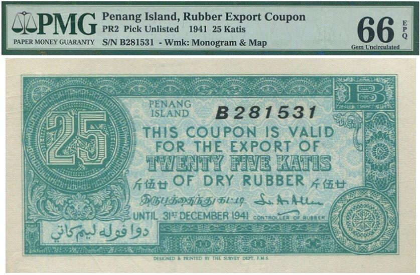 Penang Island, Rubber Export Coupons