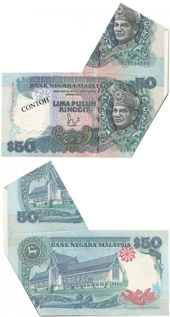 MY, 6th series, RM 50,cutting error,