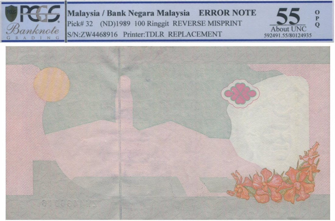 MY, 6th series,RM 100,  error note