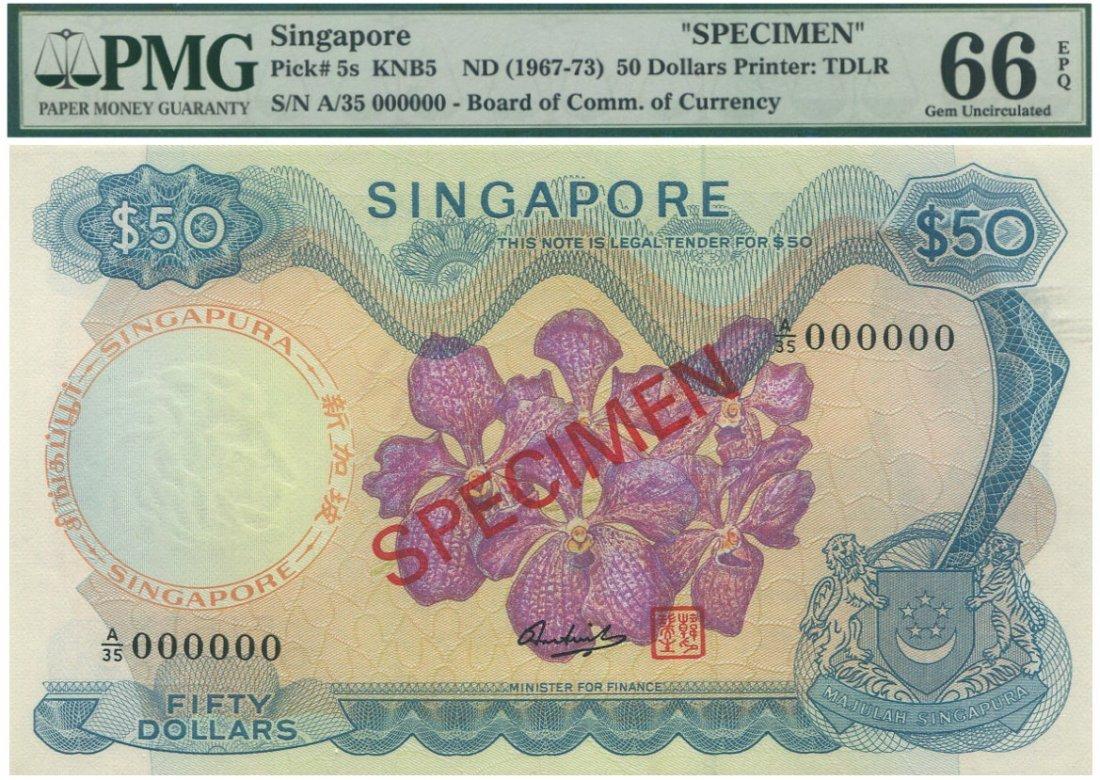 SG, Orchids, $50, specimen PMG 66 EPQ