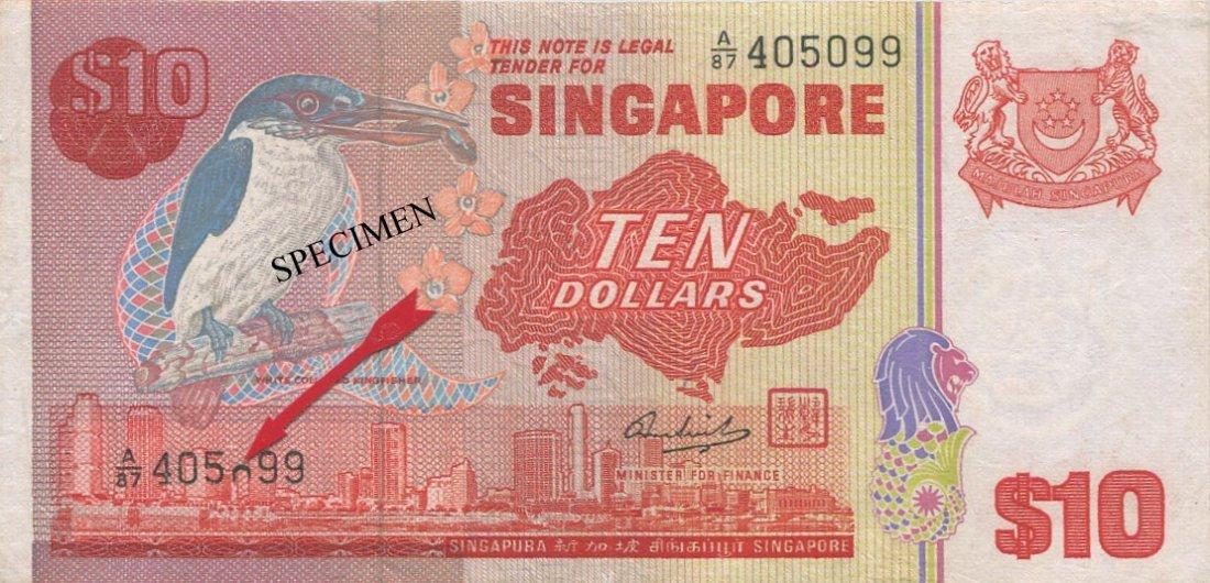 SG, Bird, $10, printing error EF