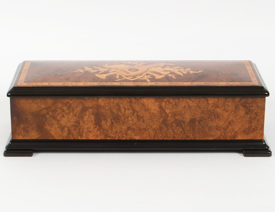 SWISS MARQUETRY CYLINDER MUSIC BOX
