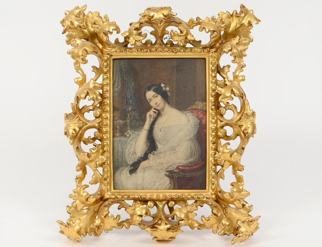 ITALIAN ROCOCO STYLE GILTWOOD TABLE FRAME