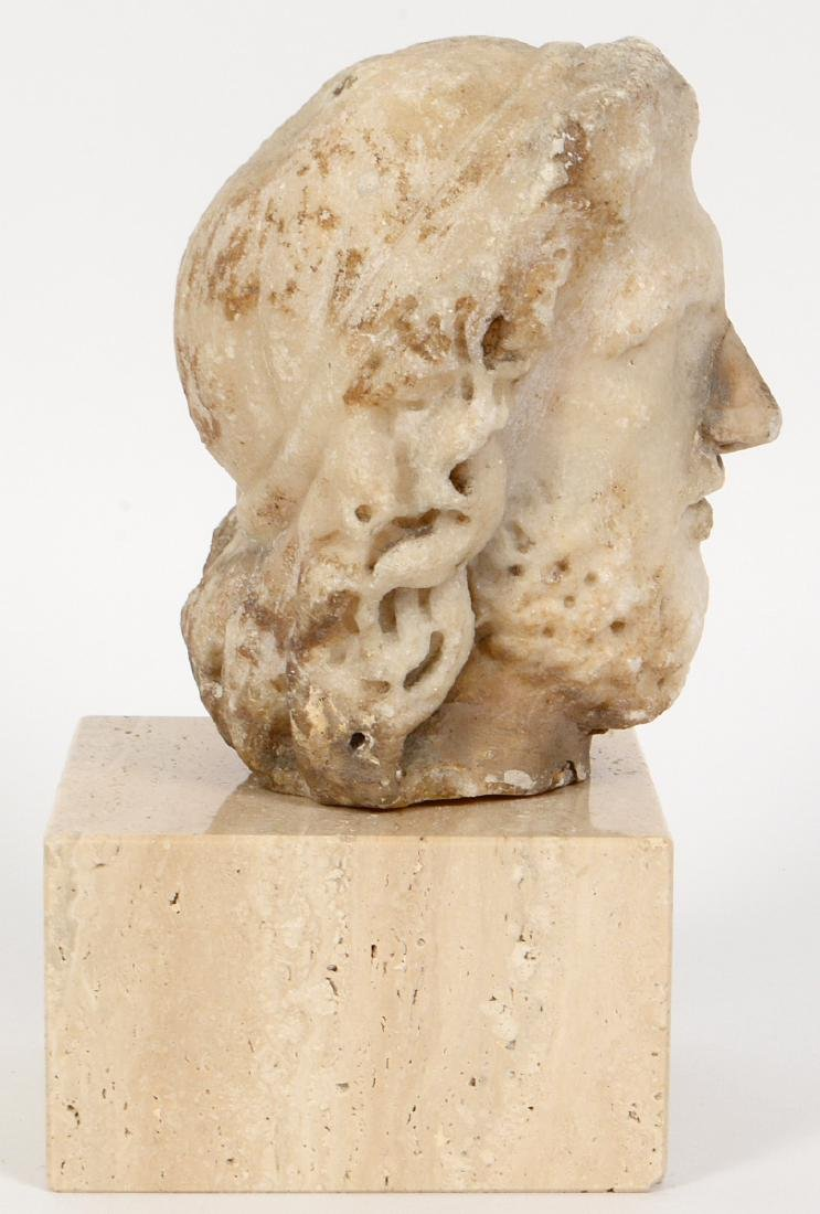 ROMAN MARBLE HEAD OF A BEARDED MAN - 2