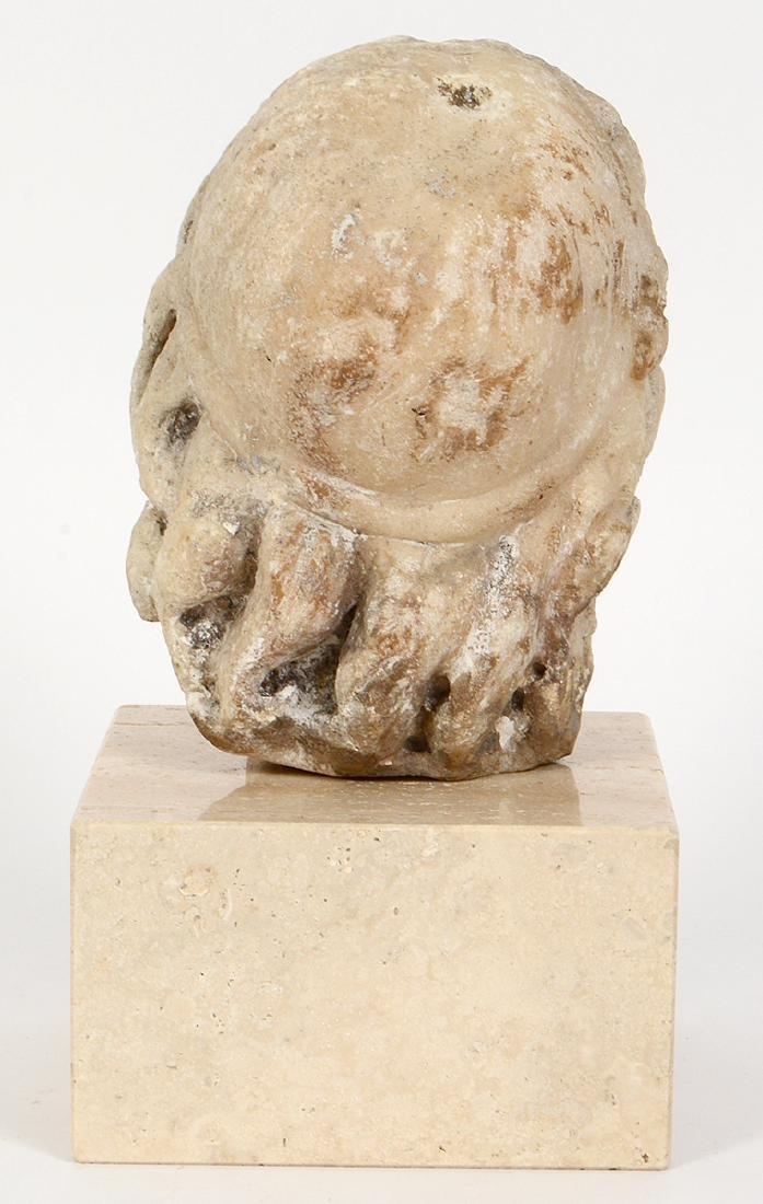 ROMAN MARBLE HEAD OF A BEARDED MAN - 3