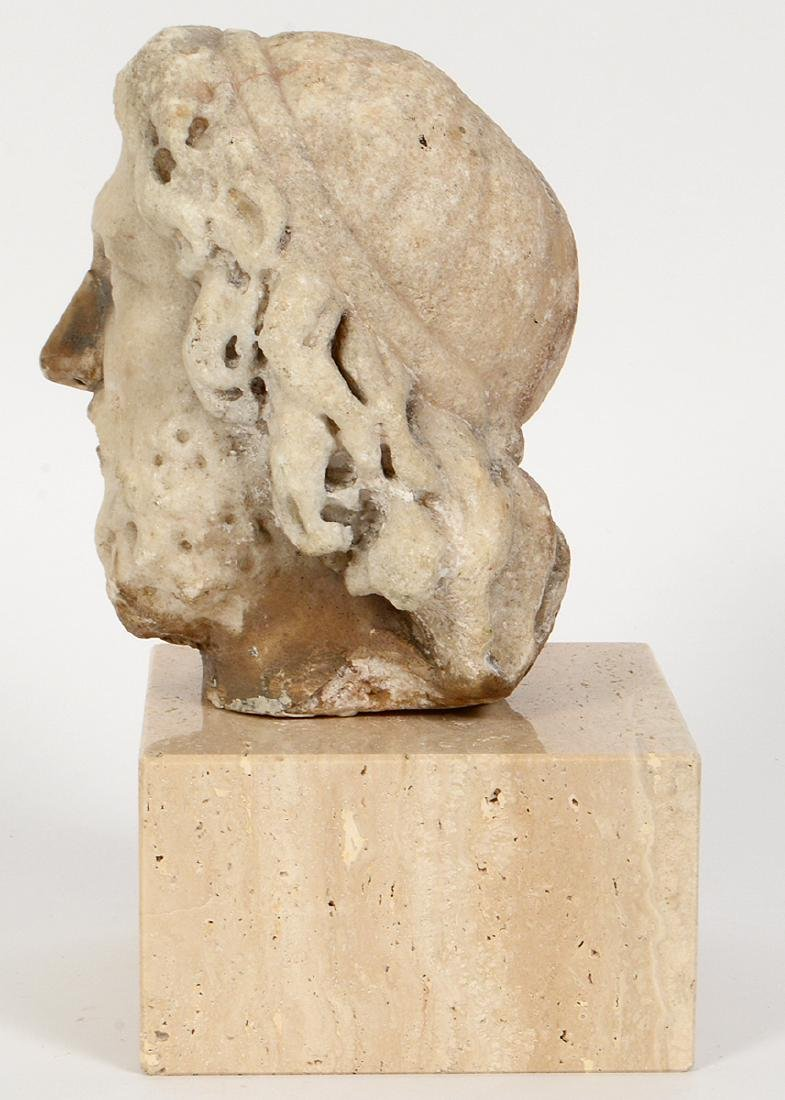 ROMAN MARBLE HEAD OF A BEARDED MAN - 4