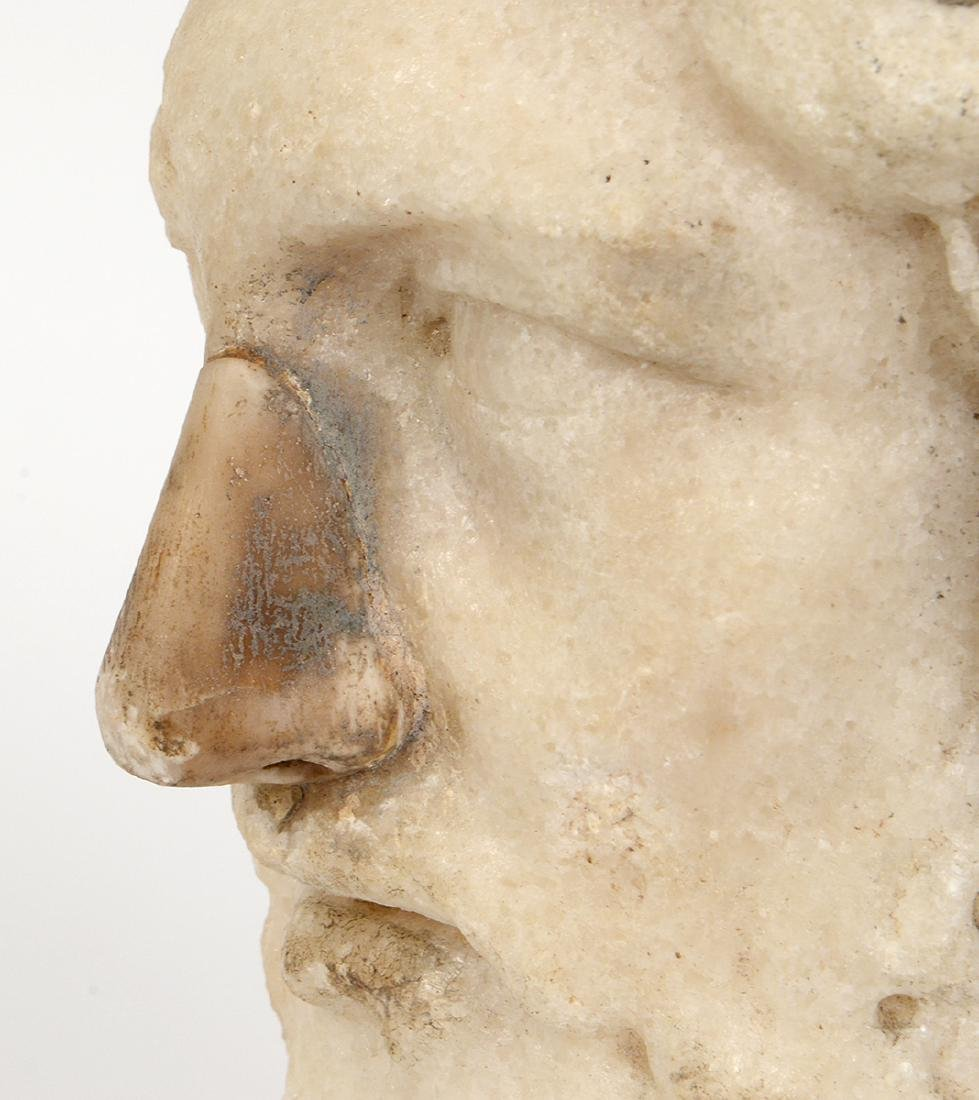 ROMAN MARBLE HEAD OF A BEARDED MAN - 5