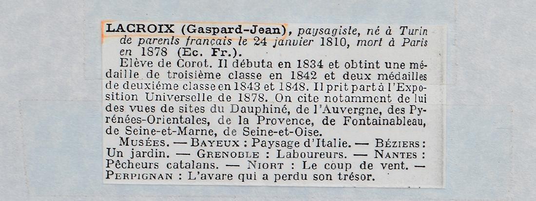 GASPARD JEAN (GASPAR) LACROIX (French/Italian. - 4
