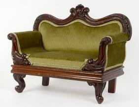 CABINET MAKER'S SAMPLE ROCOCO REVIVAL SETTEE
