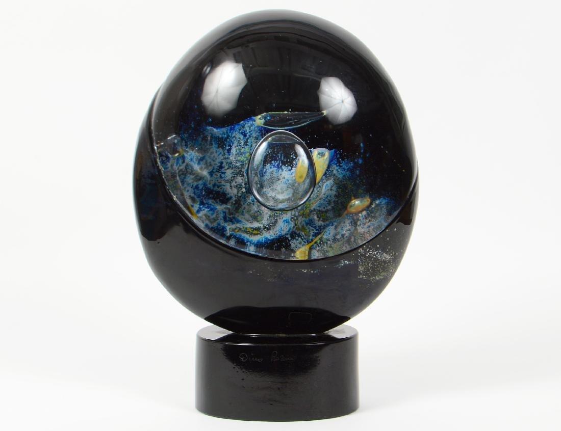 "DINO ROSIN ""PIANETA"" ART GLASS SCULPTURE"